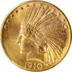 1910-D Indian Eagle. MS-63 (PCGS).