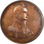 1815 (1819-1885) Captain Charles Stewart Naval Medal. Original Dies. Bronze. 65 mm. By Moritz Furst.