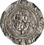 FRANCE. Blanc, ND (1483-98). Toulouse Mint. Charles VIII. NGC MS-62.
