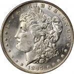 1897-O Morgan Silver Dollar. MS-63+ (PCGS).