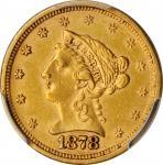 1878-S Liberty Head Quarter Eagle. AU-55 (PCGS).