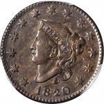 1820 Matron Head Cent. Large Date. AU-55 (PCGS).
