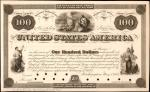 United States of America. Act of February 25, 1862. $100 6% Coupon Bond. Hessler X132H. Principal Po