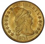 1801 Capped Bust Right Eagle. Bass Dannreuther-2. Rarity-2. Mint State-64+ (PCGS).