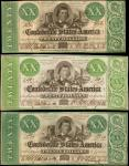 Lot of (3) T-21. Confederate Currency. 1861 $20. Very Fine.