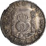 MEXICO. 8 Reales, 1746-MF. Philip V (1700-46). NGC VF-35.