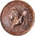 1867 Libertas Americana / J.A. Bolen Store Card. Copper. 25 mm. Musante JAB-30, Rulau Ma-Sp 43. MS-6