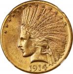 1914-D Indian Eagle. MS-61 (NGC).