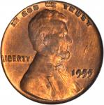 1955 Lincoln Cent. FS-101. Doubled Die Obverse. Genuine--Altered Surfaces (PCGS).