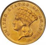 1879 Three-Dollar Gold Piece. MS-62 (PCGS).