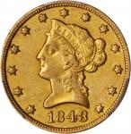1848-O Liberty Head Eagle. AU-50 (PCGS).