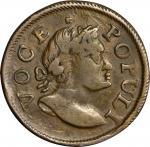 1760 Voce Populi Halfpenny. Nelson-9, Zelinka 6-C, W-13280. EF-40 (PCGS).