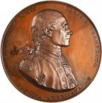 1779 (ca. 1863) Captain John Paul Jones / Bonhomme Richard vs. Serapis. U.S. Mint Copy Dies. Bronzed