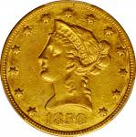 1850 Liberty Head Eagle. Large Date. EF Details--Tooled (PCGS).