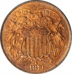 1873 Two-Cent Piece. Open 3. Proof-63 RD (PCGS).