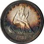 1884 Liberty Seated Quarter. Proof-63 (PCGS).