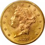 1880-S Liberty Head Double Eagle. MS-62+ (PCGS). CAC.