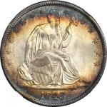 1843 Liberty Seated Half Dollar. WB-103. Repunched 4. MS-67 * (NGC).