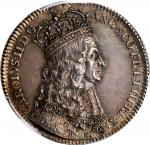 GREAT BRITAIN. Charles II Coronation Silver Medal, 1661. London Mint. PCGS AU-58 Gold Shield.