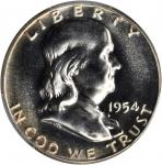 1954 Franklin Half Dollar. Proof-67 (PCGS).