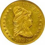 1795年戴帽半身像右鹰金币 PCGS MS 63