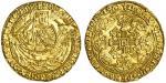 Henry VI 1﨎t reign (1422-61), Calais, Noble, Rosette-Mascle issue, 6.95g, mm. -/lis, h/enric瀦 di瀦 gr
