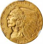 1929 Indian Quarter Eagle. MS-64+ (NGC). CAC.