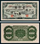 第一版人民币壹仟圆马饮水