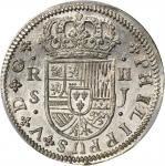 Spain. 1721-SJ 2 Reales. Seville Mint. KM-307, Cal-Type 243 #1423. MS-66 (PCGS).