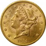 1884-CC Liberty Head Double Eagle. MS-62 (PCGS).