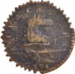 1786 New Jersey Copper. Maris 16-J, W-4835. Rarity-6-. Wide Shield. VF-20, Sawtoothed Edge.