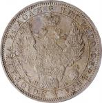 RUSSIA. Ruble, 1851-CNB NA. St. Petersburg Mint. Nicholas I. PCGS MS-64 Gold Shield.