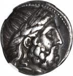 MACEDON. Kingdom of Macedon. Philip II, 359-336 B.C. AR Tetradrachm (13.56 gms), Amphipolis Mint, ca