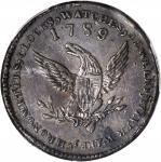 1789 Mott Token. Breen-1021, Rulau NY-612, Early Die State. Thin Planchet. Plain Edge. VF Details--D