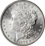 1878 Morgan Silver Dollar. 7 Tailfeathers. Reverse of 1879. MS-65 (PCGS).