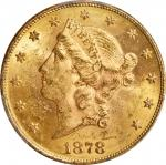 1878 Liberty Head Double Eagle. MS-61 (PCGS).