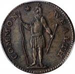 1788 Massachusetts Cent. Ryder 7-M, W-6250. Rarity-4. Period After MASSACHUSETTS. AU Details--Cleane