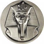 1977 Tutankhamun. Silver. 73 mm. 226.0 grams. 999 fine. By Stephen Robin. Alexander-SOM 96. Edge G,