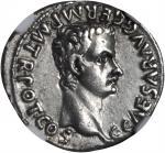 CALIGULA, A.D. 37-41. AR Denarius (3.83 gms), Lugdunum Mint, ca. A.D. 37.