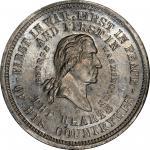 Circa 1876 Boys and Girls of America medal by George H. Lovett. Fourth obverse. Musante GW-846, Bake