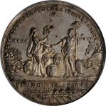 1783 Treaty of Paris Medal. White Metal, without Copper Plug. 43 mm. Betts-610, Eimer-804, BHM-255,