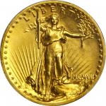MCMVII (1907) Saint-Gaudens Double Eagle. High Relief. Flat Rim. MS-63 (PCGS). CAC.