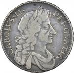 Charles II (1660-85), Halfcrown, 1678 tricesimo, fourth laureate and draped bust right, rev. crowned