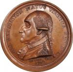 Circa 1858 Manly medal. Second Obverse reissue. Musante GW-11, Baker-62B. Copper. MS-64 BN (PCGS).