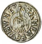 Danelaw, Hiberno-Norse Kings of Northumbria and Dublin,  Guthfrithsson  (939-41), Penny, Raven type,