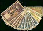 1919至35年海峡殖民地(新加坡)纸币一组十六枚,均VG-F,世界纸币