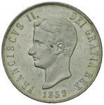 Italian coins;NAPOLI Francesco II (1859-1860) Piastra 1859 - Magliocca 809 AG (g 27.52) Minimi graff