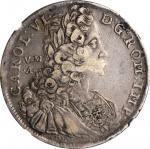 ITALY. Naples & Sicily. Piastra (120 Grana), 1731-VMA DG. Naples Mint. Carlo VI. NGC VF-30.