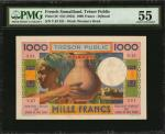 FRENCH SOMALILAND. Tresor Public. 1000 Francs, ND (1952). P-28. PMG About Uncirculated 55.