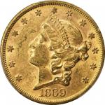 1869-S Liberty Head Double Eagle. MS-61 (PCGS).